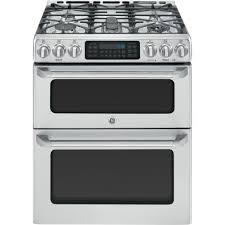 Gas Kitchen Ranges Ge Cafe 67 Cu Ft Double Oven Gas Range With Self Cleaning