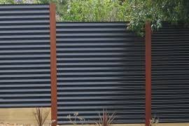 corrugated metal privacy fence. Simple Metal Corrugated Metal Privacy Fence Privacy Fence Modern Ideas  For Your Outdoor Space For Metal