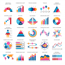 Business Data Graphs Vector Financial And Marketing Charts