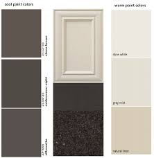 another example is the off white kitchen cabinet doors off white is usually preferred vs pure white by people who prefer warm colors
