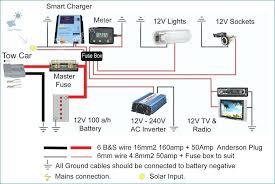 wiring diagram for a solar panel circuit of power inverter 24v