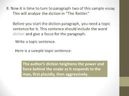 ap style analysis unit diction analysis ppt now it is time to turn to paragraph two of this sample essay
