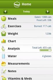 Exercise Chart App Calorie Counter Pro By Mynetdiary Diet Apps For Android