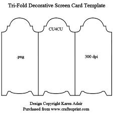 folding card template tri fold screen card template cup328979_168 craftsuprint