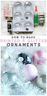 how to make glitter painted glass ornaments easy holiday craft decorating and craft