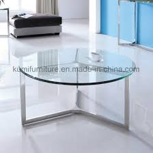 new simple design stainless steel round coffee table