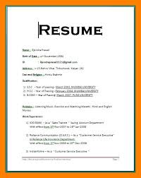 Simple Resume Format In Word Bravebtr