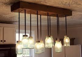 ball jar light fixture mason jar chandelier nest of bliss about marvellous dining room