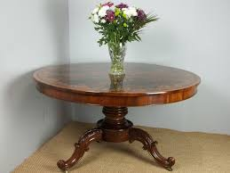 antique superior quality marquetry inlaid circular round large rosewood centre dining table c 1860