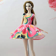 Dresses For Barbie Doll Pink+Green Poly/Cotton Linen/Polyester  Blend Dress Girl\u0027s Toy 6599262 2018 \u2013 $6.99