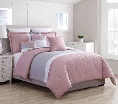8 piece emma pink gray comforter set king