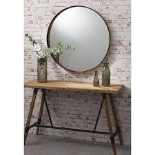 round mirror greystoke bronze metal mirror  select mirrors