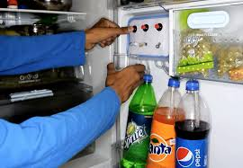 why not just build a soda fountain into your refrigerator instead after all kegerators seem to be quite popular these days