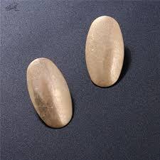 <b>Badu Gold</b>/Silver Stud <b>Earring Jewelry</b> for Woman <b>Oval</b> Geometric ...