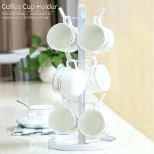 teacup display shelf tea cup rack stand tree shape with brackets and saucer shelves