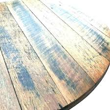 wood table top round tops rustic recycled unfinished for