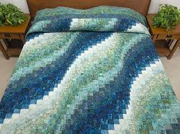 Bargello Wave Quilt -- superb made with care Amish Quilts from ... & King Ocean Spray Bargello Wave Quilt Photo 1 ... Adamdwight.com