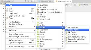 Create assets folder in Android Studio - Code2care