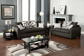 modern small space living room design with simple dark grey couch living room and fireplace mantel decor