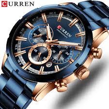 CURREN 8355 New Luxury <b>Chronograph Men's</b> Wrist Watch Full ...