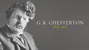 Risultati immagini per G. K. Chesterton