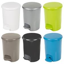 Details About Plastic 5 Litre Pedal Operated Waste Dustbin Rubbish Bin Bathroom Kitchen Toilet