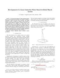 pdf development of a linear induction motor based artificial muscle system