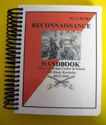 army recon scout st 3 20 983 reconnaissance handbook 2002 12 95 my army