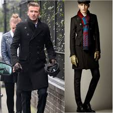 top new winter coat men fashion high quality double ted long woolen peacoat jacket