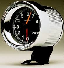 vdo 4 8000 rpm tachometer black face chrome housing aircooled vdo 4 8000 rpm tachometer black face chrome housing