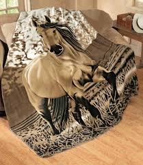 Horse Design Throw Blanket