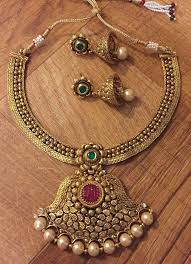 details about new indian stani antique ethnic bollywood ruby green pearl moti necklace set