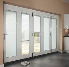 white internal folding doors