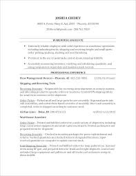 Warehouse Worker Resume New Objective For Warehouse Resume Impressive 48 Position Sample Resumes