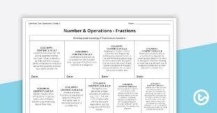Common Core Math Standards Chart Common Core State Standards Progression Trackers Grade 3