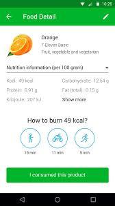 extensive nutrition database