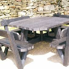octagonal table octagonal picnic table with backrests