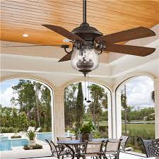 outdoor ceiling fans. Indoor/ Outdoor Cloche Glass Ceiling Fan - 3-40w Bulbs And 22h With Rod Fans