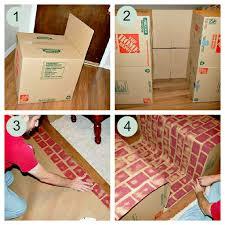 how to make a fake cardboard fireplace cardboard fireplace