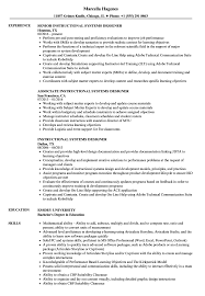 Instructional Design Resume Examples Instructional Systems Designer Resume Samples Velvet Jobs 14