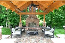 screened in porch with fireplace covered patio with fireplace outdoor brick fireplace patio traditional with brick