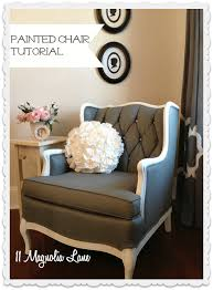 how to paint upholstery fabric and completely transform a piece of furniture this painted chair