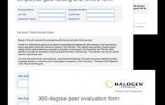 Staff Performance Appraisal Form Template Best Of Employee ...
