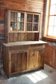 Antique Cabinet In Cedar With Upper Cabinet Made From Reclaimed