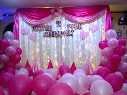 simple balloon decoration for birthday at home party birthday