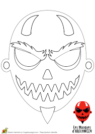 Coloriage Masques Colorier Pour Halloween Sur Hugolescargot Com