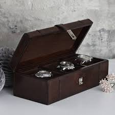 personalised leather watch box for three five or one
