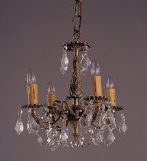 antique brass crystal chandelier collection 6 light