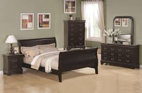 Queen Size Teenage Bedroom Sets Cappuccino Finish Transitional 5pc Bedroom Set W Queen Size Bed