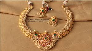 South Indian Jewellery Latest Designs South Indian Style Pearl Necklace Latest Jewellery
